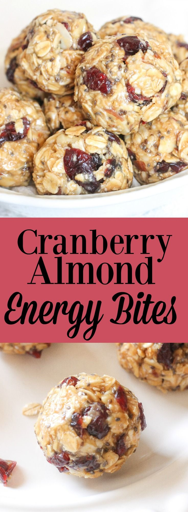Cranberry Almond Energy Bites// Kathryn's Kitchen Blog