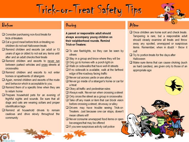 parents and caregivers check out our safety tip checklist for your trick or treaters on halloween - Halloween Tips For Parents