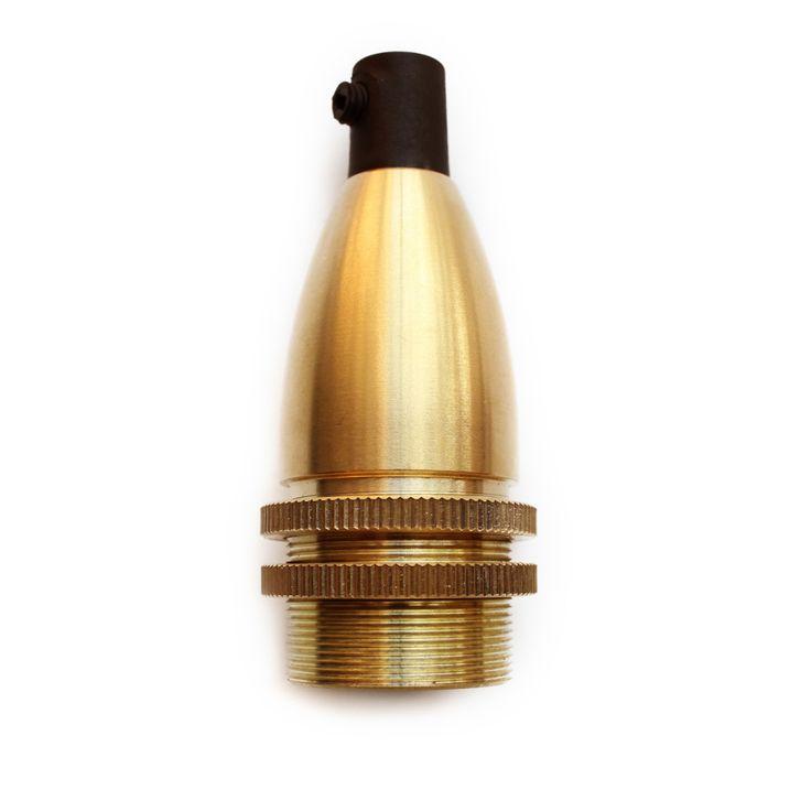 Masívnaantickáobjímkaje kompatibilná so všetkými našimi káblami a žiarovkami s päticou E14