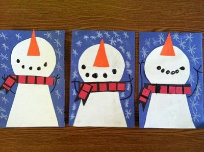 circle/trapezoid craft.snowman crafts for preschoolers | Snowman Craft