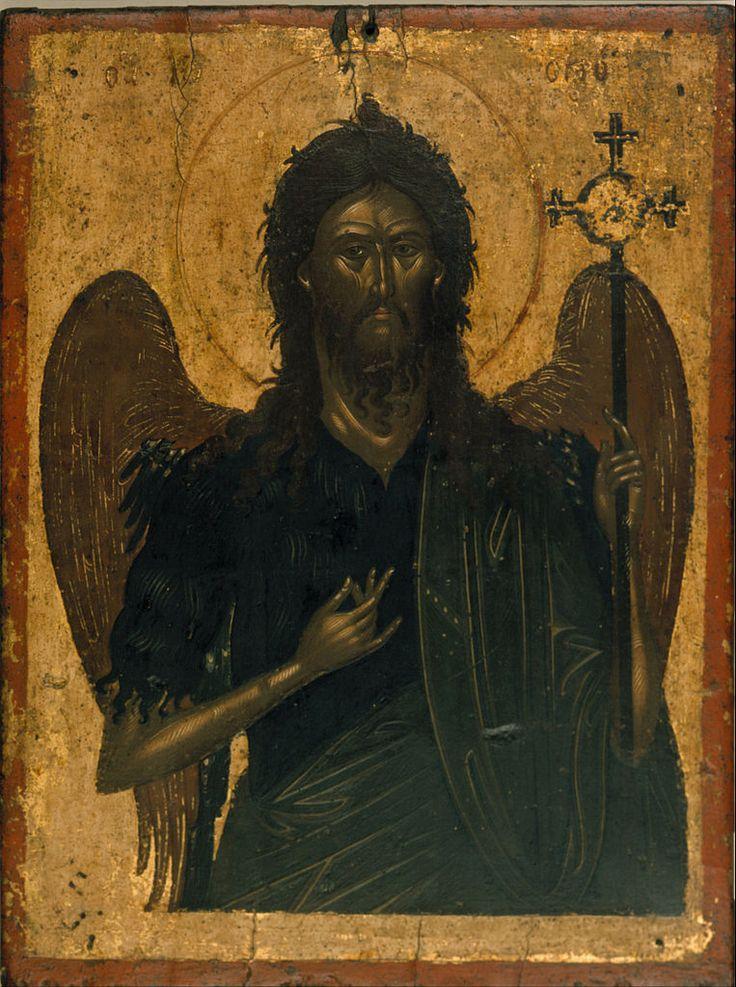 Icon of St. John the Baptist, anonymous Cretan painter, ca. 1600; Benaki Museum in Athens, Greece