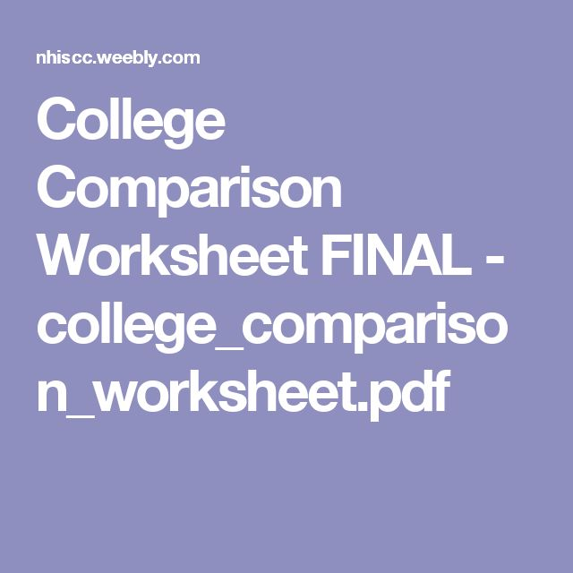 best college comparison
