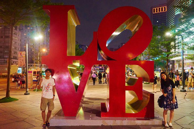 love sculpture taipei 101