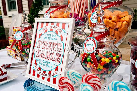 Carnival Collection. Prize Table Sign. DIY. Digital ...