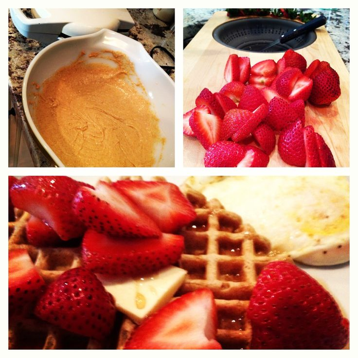 Peanut Butter Waffles 1 cup Whole wheat flour 2 tsp baking powder ...