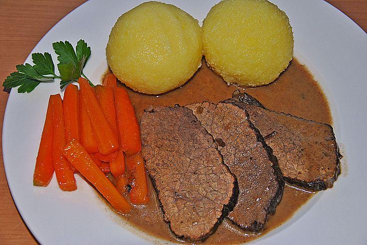 Rindsschmorbraten mit Essig und Rahm, ein tolles Rezept aus der Kategorie Rind. Bewertungen: 529. Durchschnitt: Ø 4,8.