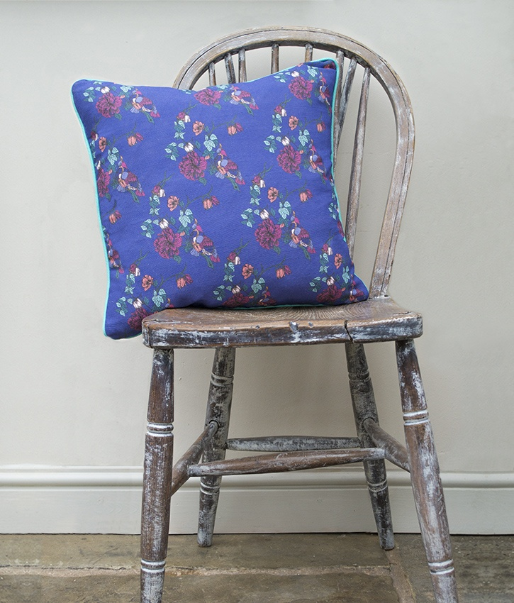 Paradise Parrot Cushion | Occipinti  Bright colourful vintage style cushions