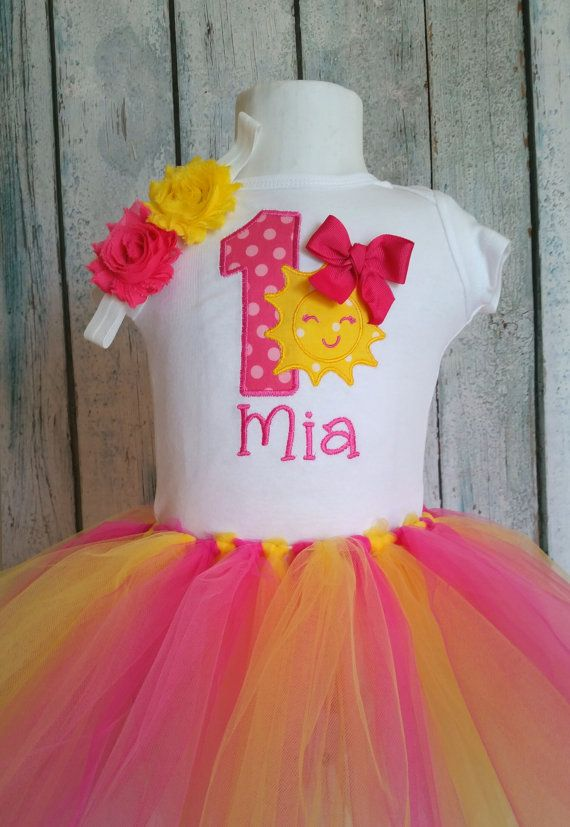 You are my sunshine first birthday outfit , 1st  birthday sun  outfit - Toddler girl,  Baby Girl personalized , 1st Birthday  girl