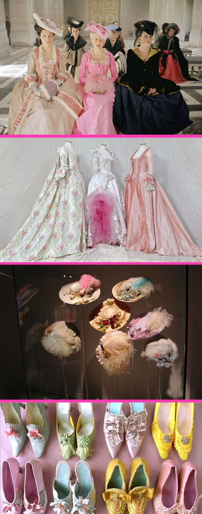 Milena Canonero's costumes for Marie Antoinette (2006).