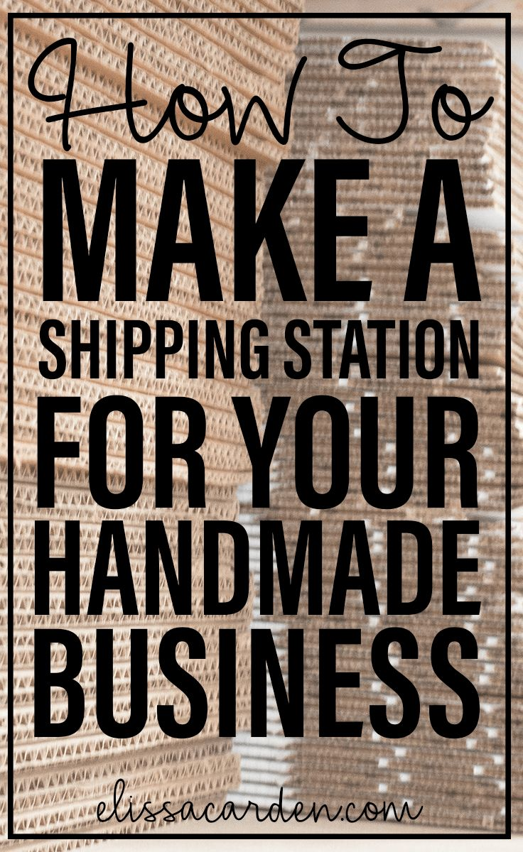 Etsy shipping station ideas for Etsy sellers, How to make a shipping station for your business