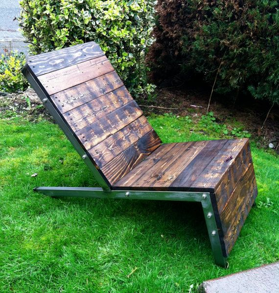Industrial Adirondack Chair Lawn Chair Deck Chair by 22ndDesigns, $435.00