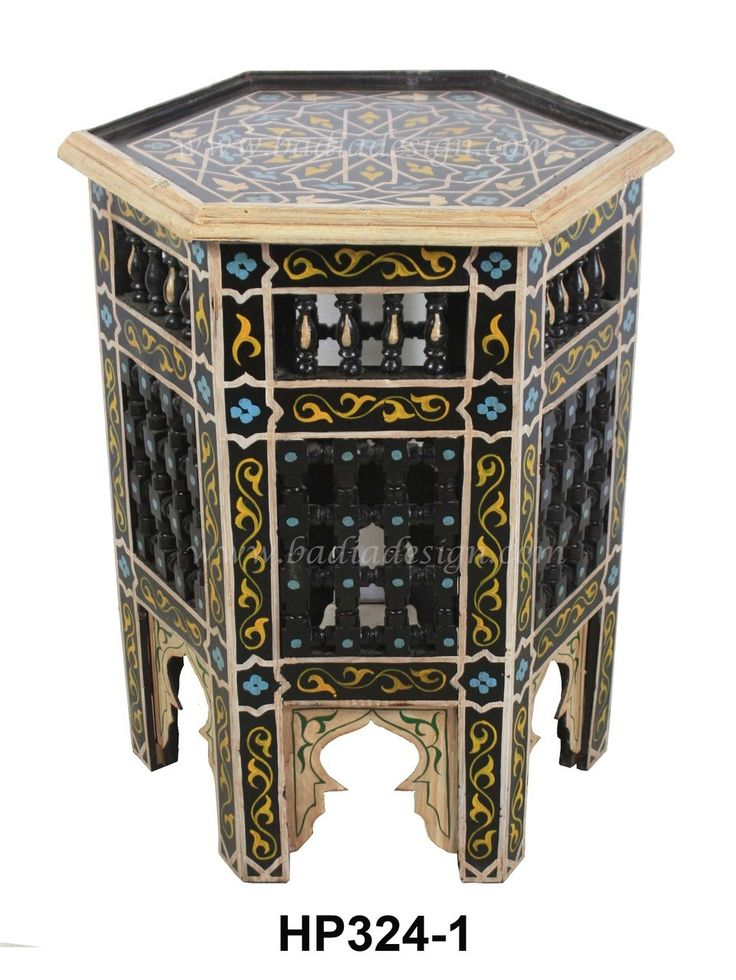 Moroccan Multi Color Hand Painted Side Table including Moroccan coffee table, hand painted Moroccan side table, Moroccan hand painted furniture, coffee table, Moroccan table, Moroccan furniture