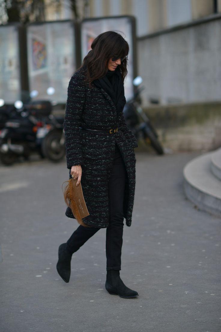 Emmanuelle Alt in belted Chanel