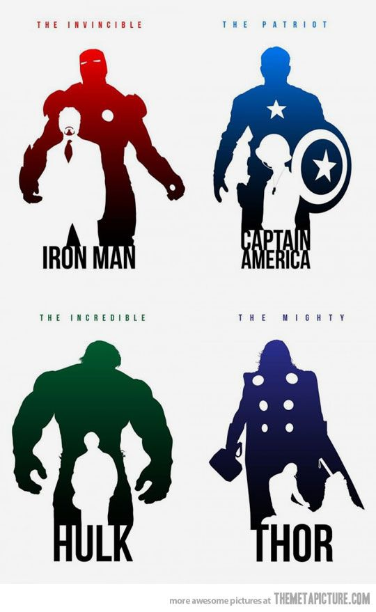 Inside the Avengers…  These are really quite poignant.