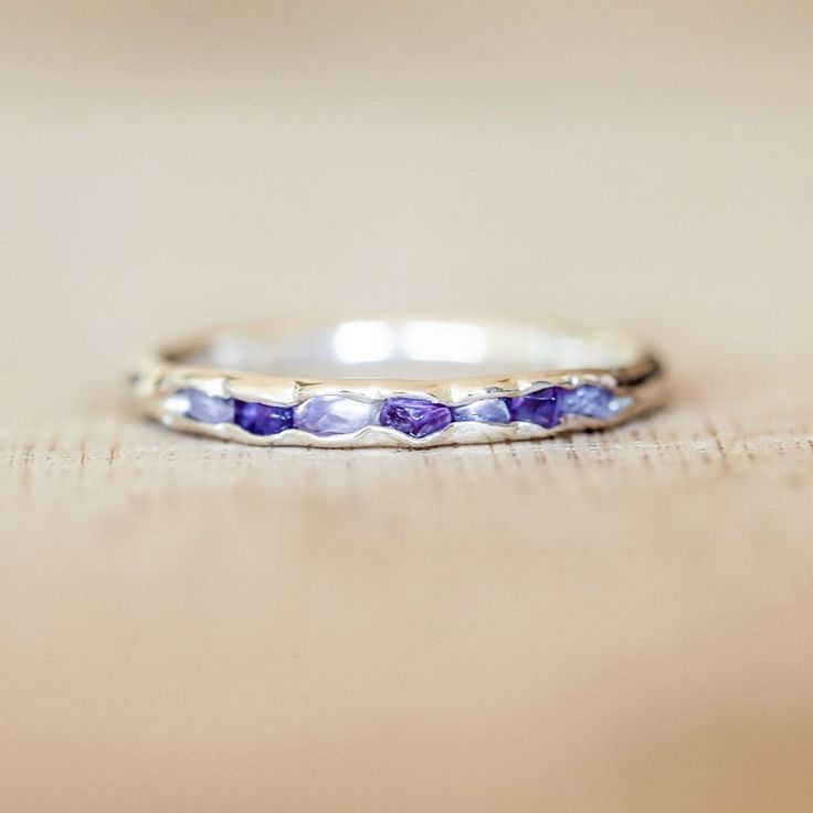 Amethyst birthstone ring // Hidden Gems - Gardens of the Sun Jewelry