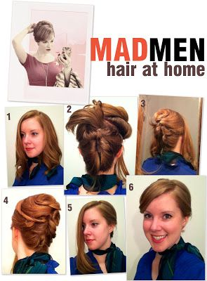 My little sis, margaret!! mad men hair at home