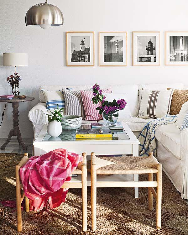 : Ideas, Art Frames, Living Rooms, Beaches House, Lighthouses, Color, Home Interiors Design, Corner Sofas, Design Home