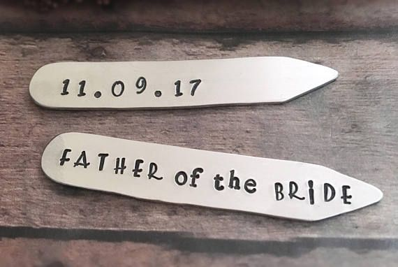 Father of the Bride Father of Bride Collar Stay Personalized