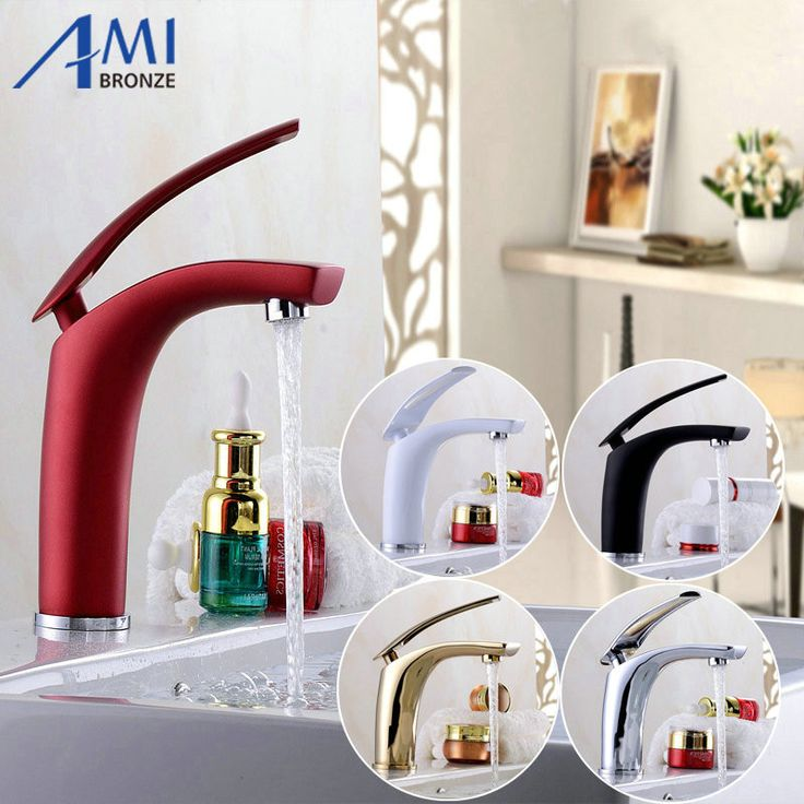 Newly Colorful Painted Basin Faucets Hot&Cold Mixer Bathroom Basin Tap Brass Gold/Chorme/White/Red Faucet Crane - ICON2 Luxury Designer Fixures  Newly #Colorful #Painted #Basin #Faucets #Hot&Cold #Mixer #Bathroom #Basin #Tap #Brass #Gold/Chorme/White/Red #Faucet #Crane