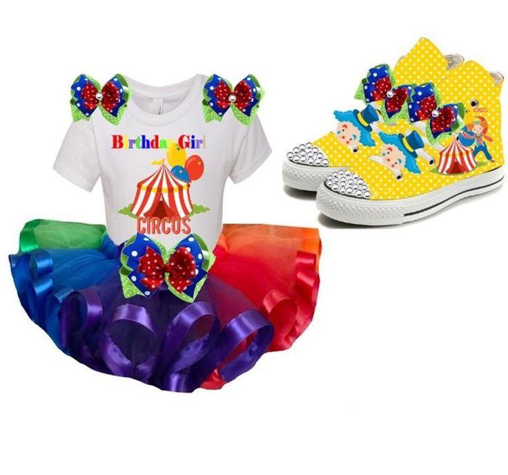 Rainbow CIRCUS Birthday Party Tutu Outfit Set