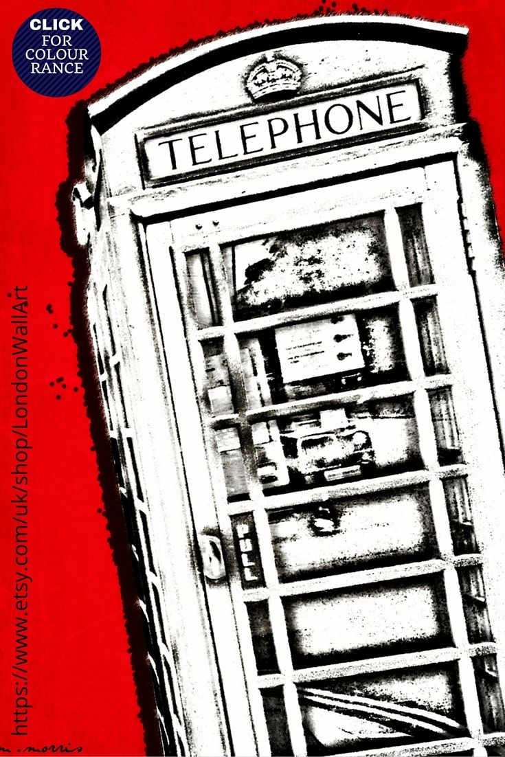 https://www.etsy.com/uk/listing/241546918/london-street-art-cool-abstract-art-wall?ref=shop_home_active_15 LONDON TELEPHONE BOOTH ART. London art print made of 100% pure white cotton and a deep edged pine frame to give it a luxurious finish. Printed with the highest quality inks this London art print is fade resistant. ** LIMITED EDITION** AVAILABLE IN 3 SIZES and 8 COLOURS.