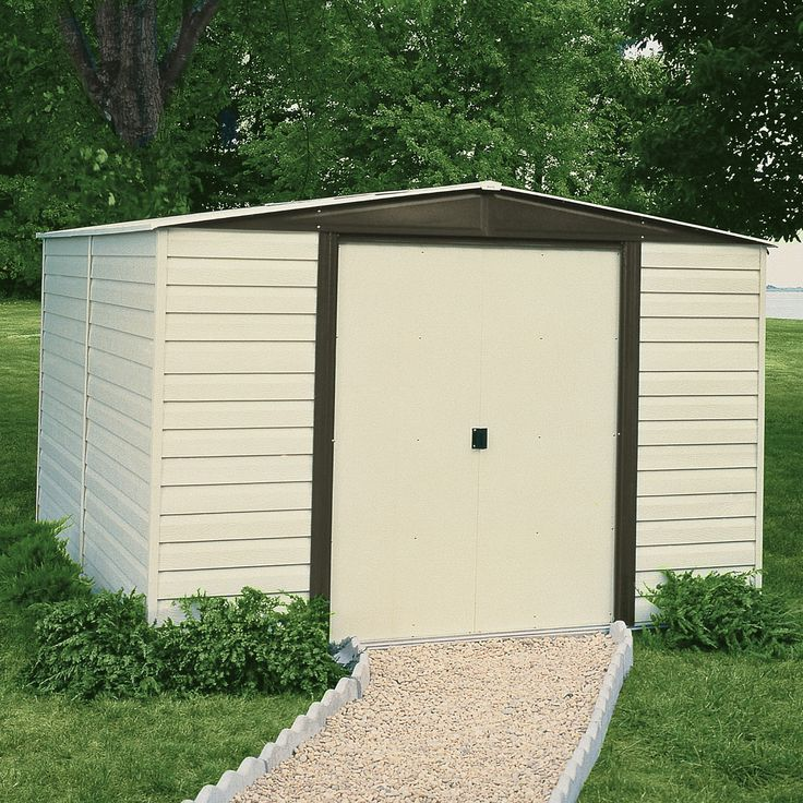 dallas 8 ft w x 6 ft d vinyl coated steel storage shed