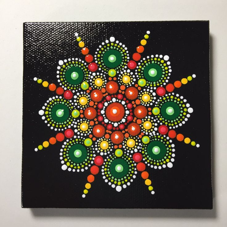 Hand Painted Mandala on Canvas, Mandala Meditation, Dot Art, Calming, Healing, #401 by MafaStones on Etsy