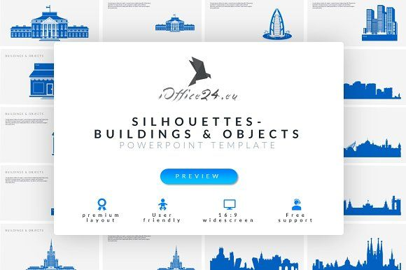 Buildings & objects by ioffice24 on @creativemarket