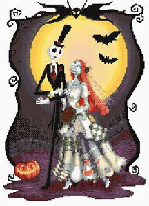 "nightmare before christmas free cross stitch pattern | Nightmare Before Christmas 11 Counted Cross Stitch Kit 14ct 12"" x 16"""