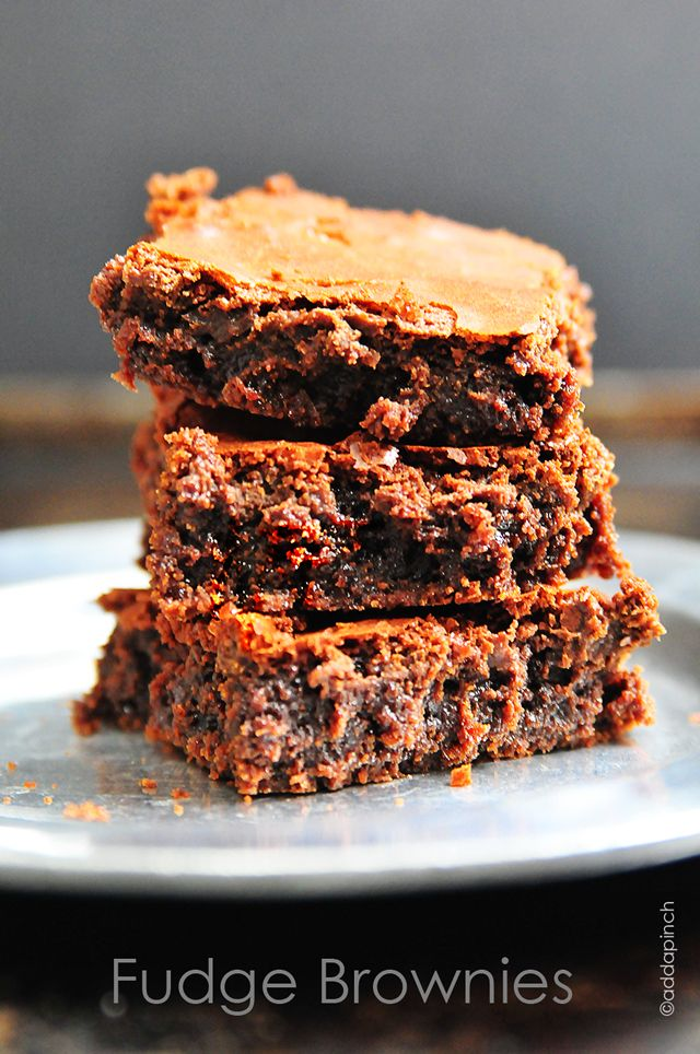 Fudge Brownies Recipe from addapinch.com