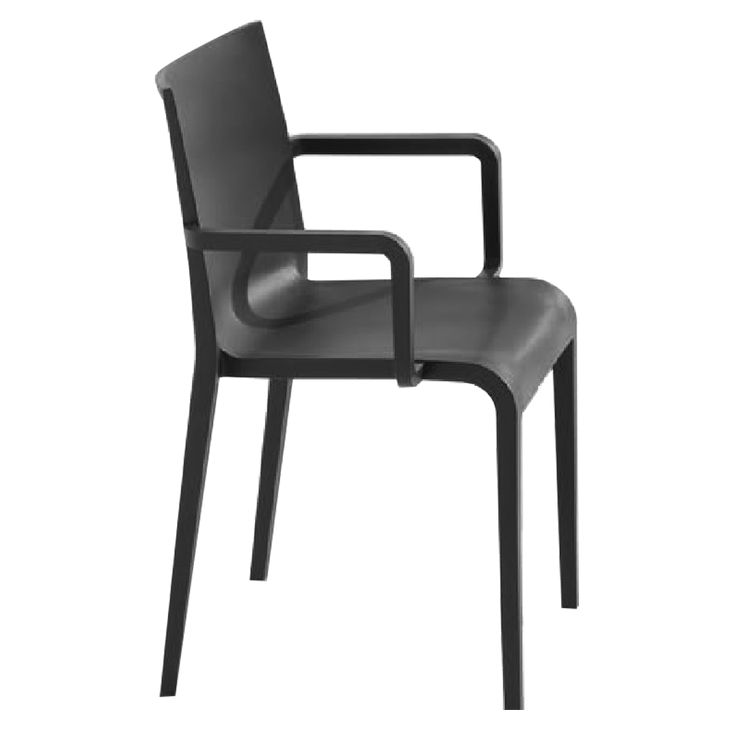 Nassau 2.0 in Black - air-molded polypropylene chair, stacks 8. Designed by Marc Sadler for the Metalmobil collection.