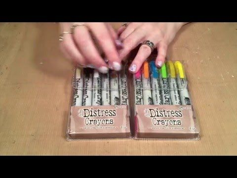 How to Use Tim Holtz Distress Crayons - YouTube