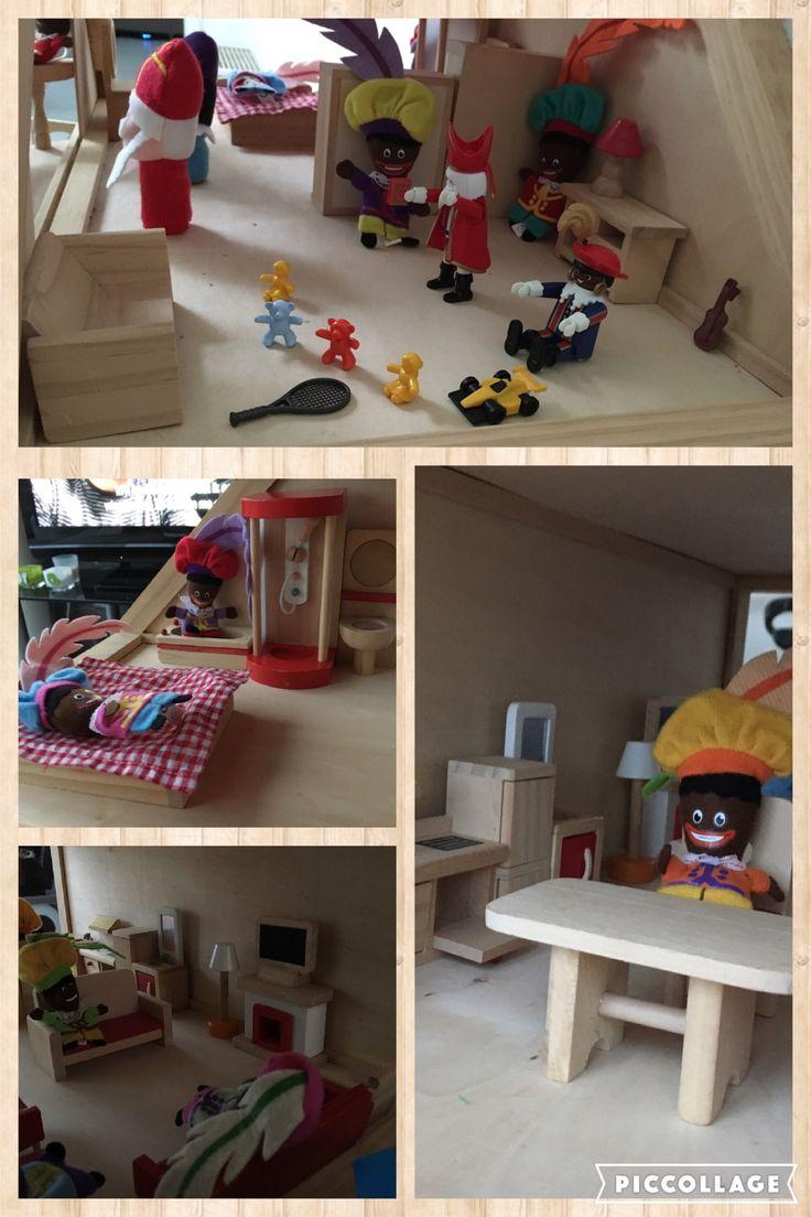Juf Berdien Sint Huis zwarte pieten pietjes poppenhuis speelgoed inrichting