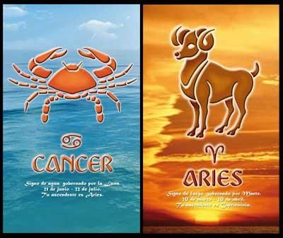 Cancer_Aries:-Unique feature in Aries and Cancer relationship is that while both of them are devoted towards their families, Aries is not as highly devoted as Cancer. Aries loves freedom and too much affection or demands from the family might leave him or her suffocated at the end of it...