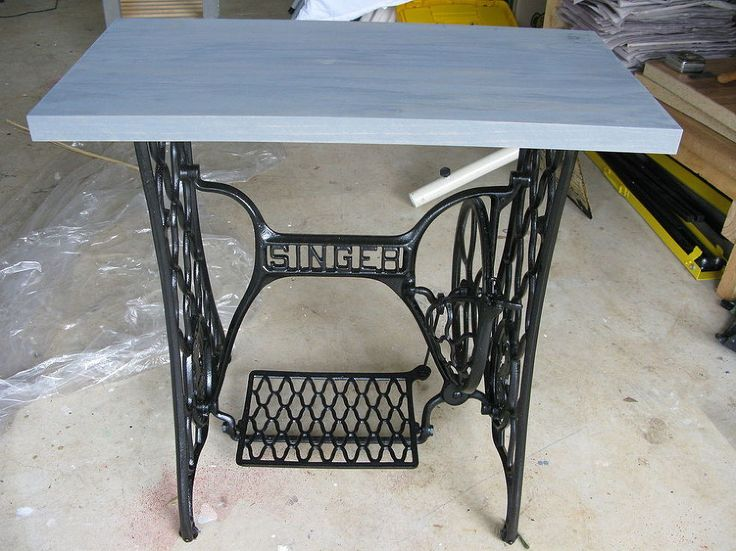 singer sewing machine cabinet makeover to hall table - Kitchen Table Sewing