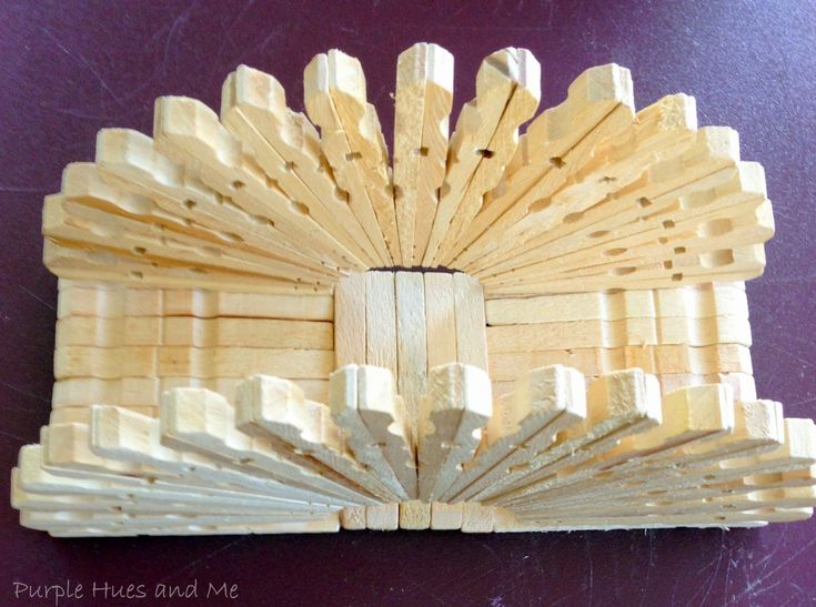 Purple Hues and Me: Clothespin Napkin Holder