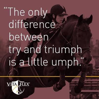 The only difference between try and triumph is a little umph.