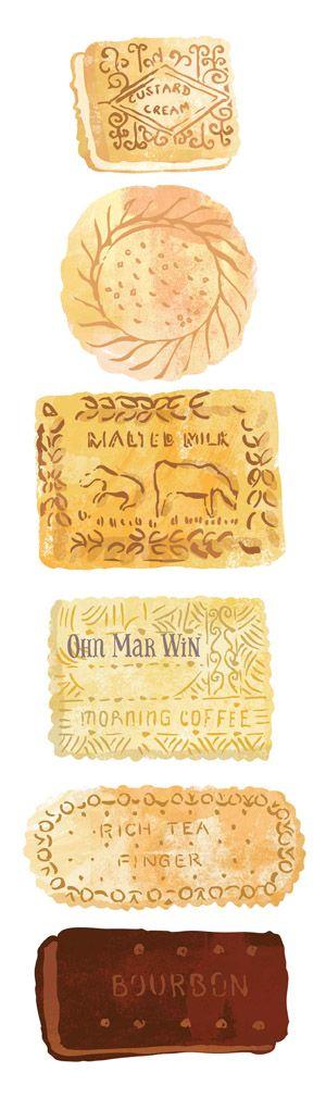 Ohn Mar Win Selection of British favourites including custard cream, bourbon, malted milk, nice, rich tea and shortcake