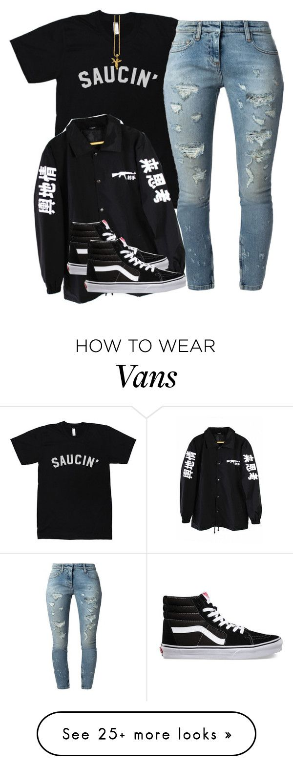 """Untitled #2151"" by dreakagotswagg on Polyvore featuring Faith Connexion and Vans not a fan of the T , just the shoes"