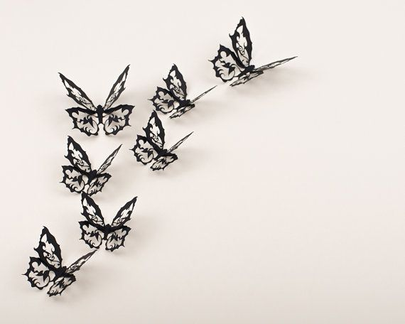 3D Butterfly Wall Stickers Ornate Gothic Decor by hipandclavicle, $22.00