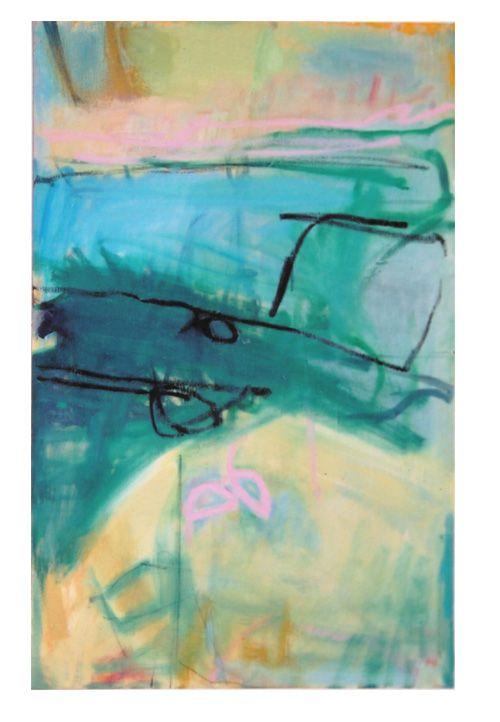 'Strata I', Janine Baldwin, oil on canvas, 80 x 47cm  www.janinebaldwin.com