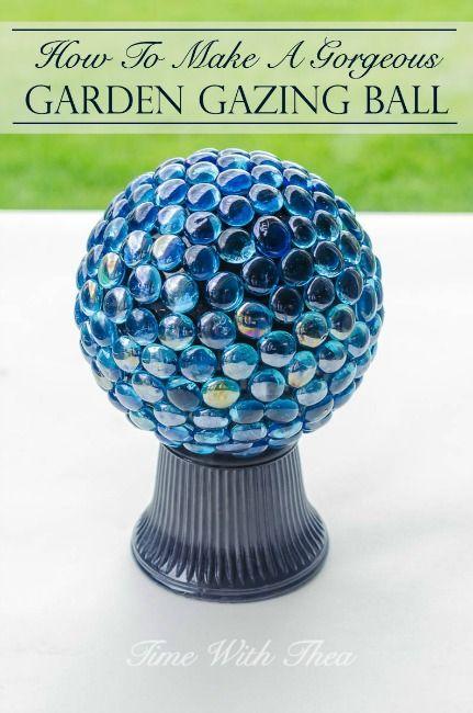 How To Make A Gorgeous Garden Gazing Ball