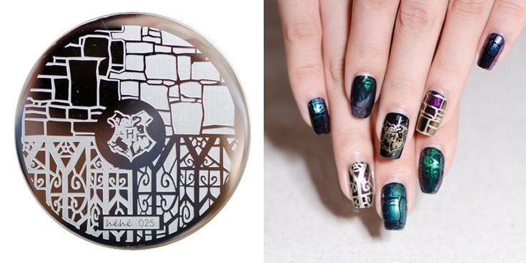 Sale !!!1 set by 12pcs(each of hehe25-36) Nail Stamping Plate Image Transfer Templates Stamp Tool hehe25-36--Harry potter series