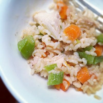 Creamy Chicken Rice & Vegetables. Simple and Savory.