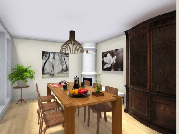 3d floor plan designed in roomsketcher dining room with