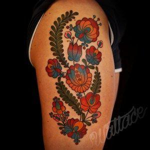 Stipple Moth Tattoo | RAYMOND WALLACE TATTOOING