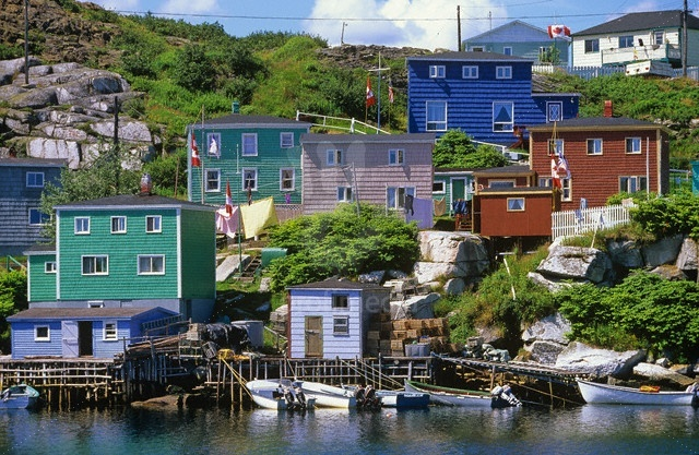 Fishing village of Rose Blanche, Newfoundland
