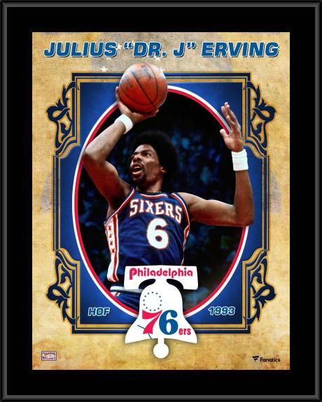 fad360521 Julius Erving Philadelphia 76ers 10.5