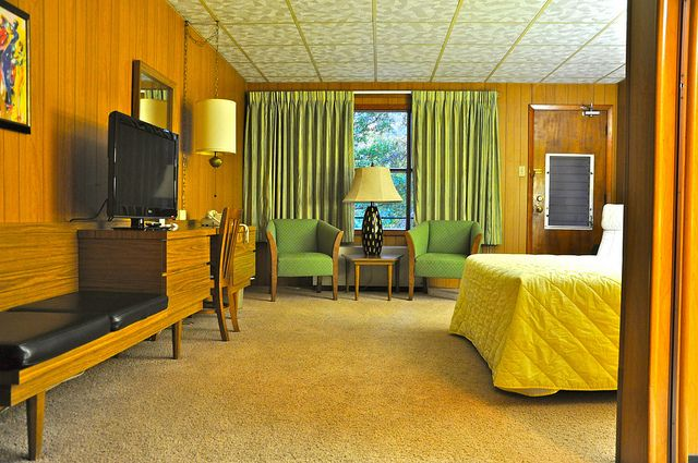 Motel Room Interior by Mod Betty / RetroRoadmap.com, via Flickr
