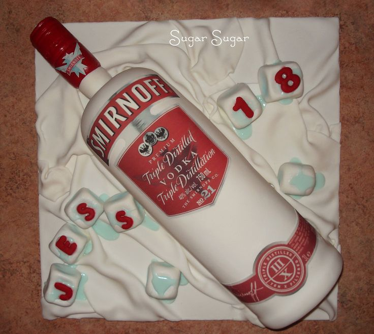 bottle shaped cake - Google Search... but instead of vodka, do ZIMA bottle for 90's party